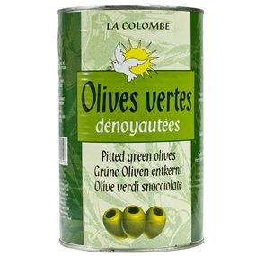 Green pitted olives LA COLOMBE