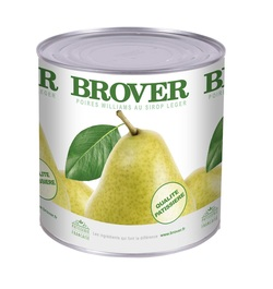William Pear Halves in light syrup BROVER